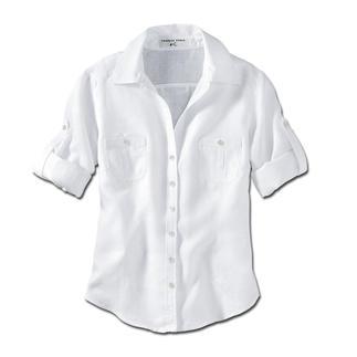 Die gepflegte Leinen-Bluse, die nicht zu lässig fürs Büro ist. Aus garngefärbtem, luxuriösem Albini-Leinen. Der Schnitt macht sie so vielseitig und bürotauglich.