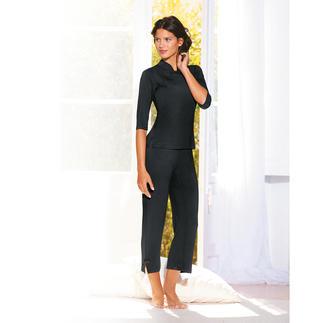 Der Dreamsacks®-Pyjama aus feinem Bamboo-Garn: unvergleichlich weich und angenehm luftig. Nur zum Schlafen viel zu schade. Den Zweiteiler können Sie auch als Haus- und Wellnessanzug tragen.