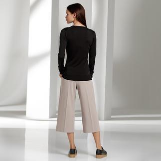 Die Culotte von Seductive ist ein unkomplizierter Allrounder. Schwierige Hosenform leicht gemacht.
