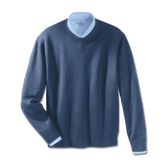 Unglaublich weich und nahezu pillingfrei: Die Pullover aus extrafeiner Merinowolle. Nur Kaschmir ist vergleichbar sanft auf Ihrer Haut.