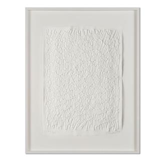 Günther Uecker – Feld, 2011 Prägedruck auf 300-g-Büttenpapier  Auflage: 90 Exemplare   Exemplar: e. a.  Blattgröße (B x H): 50 x 70 cm   Maße: gerahmt 73 x 93 cm