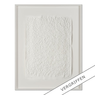 "Günther Uecker: ""Feld"", 2011 Prägedruck auf 300-g-Büttenpapier  Auflage: 90 Exemplare   Exemplar: e. a.  Blattgröße (B x H): 50 x 70 cm   Größe mit Rahmung:  73 x 93 cm"