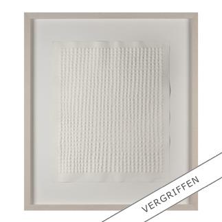 Günther Uecker – Reihung, 1972 Prägedruck auf 300-g-Büttenpapier  Auflage: 100 Exemplare   Exemplar: e. a.  Blattgröße (B x H): 50 x 60 cm   Größe mit Rahmung: 74 x 84 cm