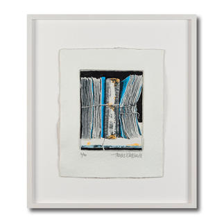 Thomas Kleemann – Archiv blau Eine der dicksten Grafiken der Welt: Thomas Kleemanns erste dreidimensionale Edition. Handbemalt. Hergestellt in einem geheimen Verfahren. 40 Exemplare – mit Unikatcharakter. Maße: gerahmt 63 x 72 cm