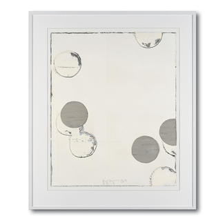 """Jupp Linssen: """"Ballpoint"""" Erste Unikatserie von Jupp Linssen: Farbkreise aus Öl auf Büttenpapier – von Künstlerhand gemalt. 20 Multiples."""