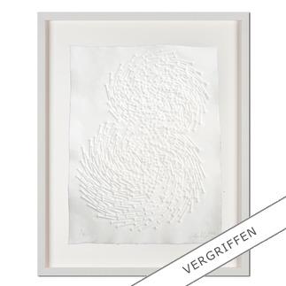 """Günther Uecker: """"Both"""" Prägedruck auf 300-g-Büttenpapier  Auflage: 50 Exemplare   Exemplar: e. a.  Blattgröße (B x H): 50 x 70 cm   Größe mit Rahmung: 68 x 88 cm"""