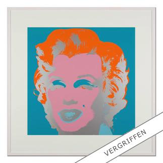 "Andy Warhol: ""Marilyn türkis"" Sunday B. Morning Siebdruck auf 1,52 mm starkem Museumskarton."
