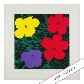 "Andy Warhol: ""Flowers grün"" Sunday B. Morning Siebdruck auf 1,52 mm starkem Museumskarton."