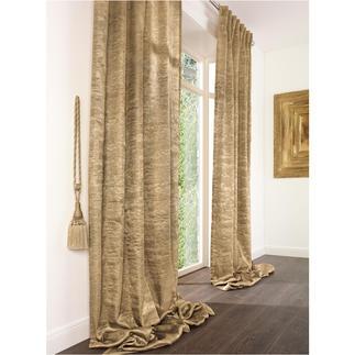 """Vorhang """"Shine"""", 1 Vorhang Der Charme und die Patina abblätternden Goldes – in raffinierter Webtechnik textil erzeugt."""