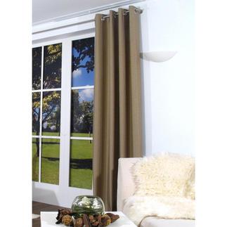 """Vorhang """"Marty"""", 1 Vorhang Ein quer gewebter Vorhang ist selten zu finden. Und seine Struktur ein außergewöhnlicher Blickfang."""