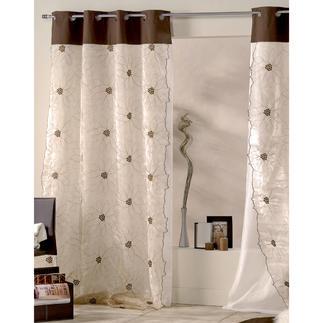 """Vorhang """"Lotus"""", 1 Vorhang Auf diesem golden schimmernden Doppelvorhang entfaltet die Lotusblüte ihre ganze Pracht."""