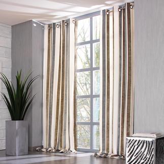 """Vorhang """"Lino"""", 1 Vorhang Ruhiges Dessin. Zurückhaltende Farben. Aber überraschende Effekte."""
