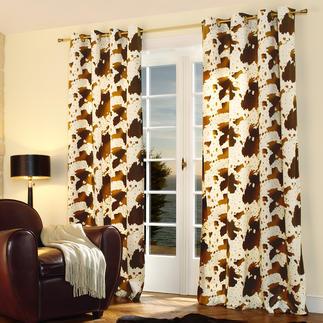 """Vorhang """"Cow"""", 1 Vorhang Nur die besten Wirkfelle sind fein genug für einen weich fallenden Vorhang."""