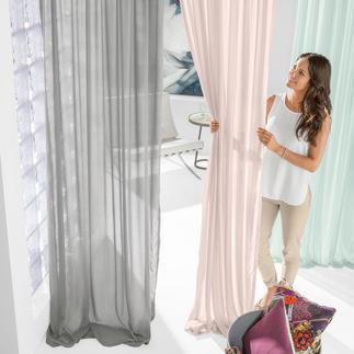 """Vorhang """"Cashmina"""", 1 Vorhang Luxuriöse Qualität mit echtem Kaschmir. Aus der neuen Kollektion """"Slow Design"""" von Sahco, Nürnberg."""
