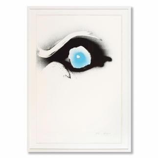 Otto Piene – Seuloeil Ausdrucksstark und einzigartig – Pienes berühmte Rauchbilder. Maße: 120 x 80 cm
