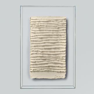 André Schweers – Weiße Faltung Einzigartige Gelegenheit, ein Unikat André Schweers' zu diesem Preis zu erhalten. Maße: 39 x 58 cm