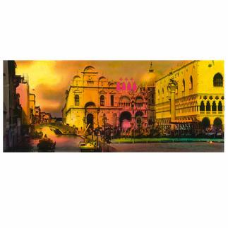 Helle Jetzig – Venice (Cloudy Sky C2), 2011 Einzigartige Technik aus Malerei, Siebdruck und Schwarz-Weiß-Fotografie.Erstmalig als Edition auf DIBOND®. 20 handsignierte Exemplare. Maße: 118 x 50 cm