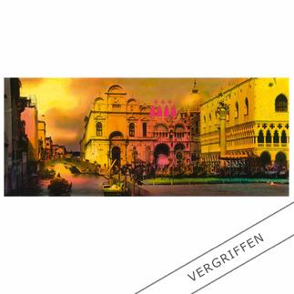 """Helle Jetzig: """"Venice (Cloudy Sky C2)"""", 2011 Einzigartige Technik aus Malerei, Siebdruck und Schwarz-Weiß-Fotografie.Erstmalig als Edition auf Aludibond. 20 handsignierte Exemplare."""