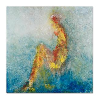 Benno Werth – Die Sitzende Seit 2011 im Stadtmuseum Riesa – jetzt als handübermalte Edition bei Ihnen zu Hause. Prof. Benno Werth editiert erstmals einen Akt. 20 Exemplare. Exklusiv für Pro-Idee. Maße: 100 x 100 cm