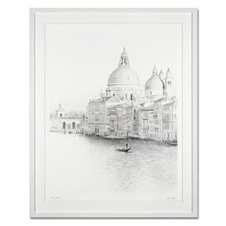 """Koshi Takagi: """"Venedig"""" Fotorealistische Bleistiftzeichnung mit über 1 Million handgemalten Strichen. Die dritte Schwarz-Weiß-Edition Koshi Takagis (die erste ist bereits ausverkauft). 30 Exemplare."""