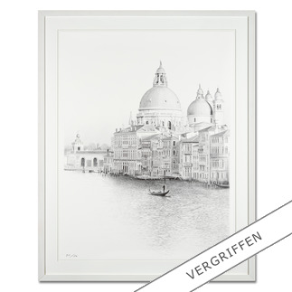 Koshi Takagi – Venedig Fotorealistische Bleistiftzeichnung mit über 1 Million handgemalten Strichen. Die dritte Schwarz-Weiß-Edition Koshi Takagis (die erste ist bereits ausverkauft). 30 Exemplare.