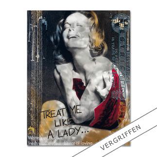 """Devin Miles: """"Like a Lady"""" Devin Miles: Der Shootingstar der deutschen """"Modern Pop-Art"""". Unikatserie aus Malerei, Siebdruck und Airbrush auf gebürstetem Aluminium. 100 % Handarbeit."""