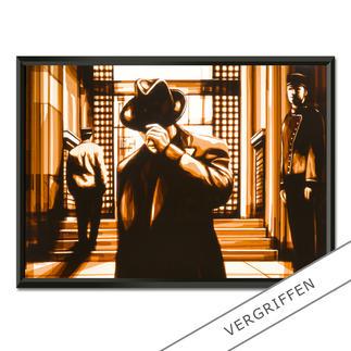 Max Zorn – It has been a while Max Zorn: Unfassbar, dass seine Originale ausschließlich aus Klebeband bestehen. Ausdrucksstarke Reproduktion auf Acrylglas – einzigartig präsentiert in einem beleuchteten, kabellosen Objektrahmen. Erste Edition mit 20 Exemplaren.