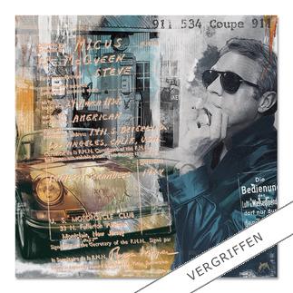 """Devin Miles: """"Steve's 911"""" Devin Miles: Der Shootingstar der deutschen """"Modern Pop-Art"""". Unikatserie aus Malerei, Siebdruck und Airbrush auf gebürstetem Aluminium. 100 % Handarbeit."""