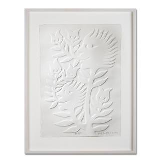 Ren Rong – Frühlingshoffnung Das berühmteste Motiv eines der renommiertesten chinesischen Künstler. Ren Rongs Pflanzenmensch erstmals als Prägedruck. Maße: gerahmt 70 x 90 cm