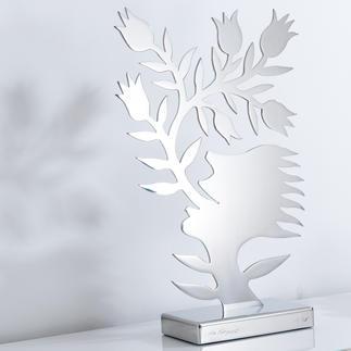 Ren Rong – Blumensprache, Edelstahl Das berühmteste Motiv eines der renommiertesten chinesischen Künstler.Ren Rongs Pflanzenmensch als limitierte Edelstahl-Edition.