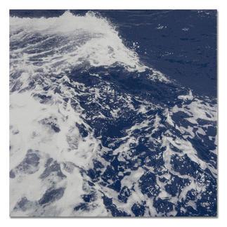 Sonja Weber – Atlantik Gewebte Atlantikwellen: Wann wird diese Kunst in Museen erscheinen? Aufwändig gewebt. Nur 12 Unikate. Maße: gerahmt 85 x 85 cm