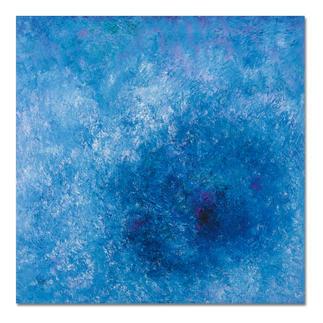 Benno Werth – Frühling am See Prof. Benno Werths einzige Edition in Blau. 30 Exemplare. Maße: 100 x 100 cm