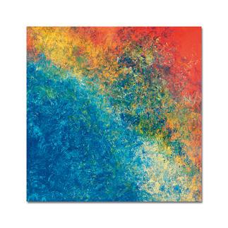 """Benno Werth – a day of the sea Mit dieser Edition beendete Benno Werth seine Serie """"Schichtarbeit"""". Jedes der 30 Exemplare von Hand gefirnisst. Maße: 100 x 100 cm"""
