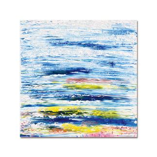 """Benno Werth – Fröhliche Landschaft Die Edition """"Fröhliche Landschaft"""" aus Benno Werths Serie """"Schichtarbeit"""". Jedes Exemplar von Hand gefirnisst. Maße: 100 x 100 cm"""