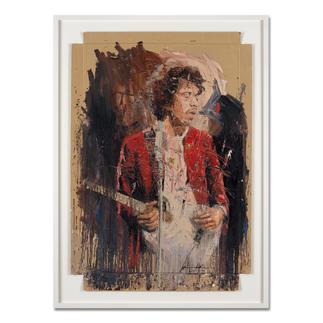 "Oliver Jordan – Jimi Oliver Jordan editiert erstmals sein Lieblingswerk ""Jimi"" Hendrix. Hochwertige Edition auf Kartonage. Maße: gerahmt 83 x 113 cm"
