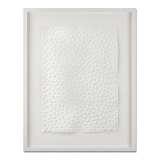 Günther Uecker – Graphein C Prägedruck auf 300-g-Büttenpapier   Auflage: 120 Exemplare zzgl. e. a.   Blattgröße (B x H): 50 x   70 cm   Maße: gerahmt 73 x 93 cm