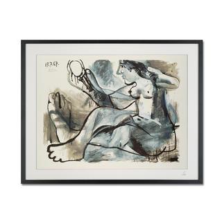 """Pablo Picasso – Akt im Spiegel (1967) Pablo Picasso """"Akt im Spiegel"""" (1967) als High-End Prints™. Endlich eine Qualität, die dem großen Meisterwerk tatsächlich gerecht wird."""