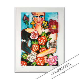 Elvira Bach – Magnolia Unverkennbar Elvira Bach: Eines ihrer weltberühmten Frauenportraits – erstmalig als 3D-Edition. 30 Exemplare.