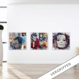 """Devin Miles – American Hero, Pit Stop oder Romy Devin Miles: Der Shootingstar der deutschen """"Modern Pop-Art"""". Unikatserien aus Malerei, Siebdruck und Airbrush auf gebürstetem Aluminium. 100 % Handarbeit."""