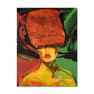 Beatrice Bues-Bohl – Bisou Mit 12 Karat Gelbgold veredelt – die zweite Unikatserie von Beatrice Bues-Bohl. 80 Exemplare. Maße: 100 x 130 cm
