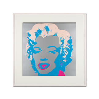 Andy Warhol – Marilyn silber Sunday B. Morning Siebdruck auf 1,52 mm starkem Museumskarton. Maße: gerahmt 112 x 112 cm