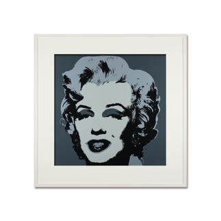 Andy Warhol – Marilyn grau Sunday B. Morning Siebdruck auf 1,52 mm starkem Museumskarton. Maße: gerahmt 112 x 112 cm