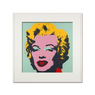 Andy Warhol – Marilyn türkis Sunday B. Morning Siebdruck auf 1,52 mm starkem Museumskarton. Maße: gerahmt 112 x 112 cm