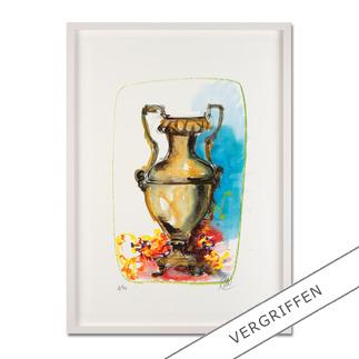 Markus Lüpertz – Vase 1 Keine Lüpertz-Edition ist wie diese. Einer seiner seltenen farbenfrohen Siebdrucke. Gering limitiert mit 40 Exemplaren.