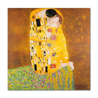 Xu Chunqing malt Klimt – Der Kuss Ein Millionen-Euro-Kunstwerk in Ihrer Sammlung? Beinahe. Die perfekte Kunstkopie – 100 % von Hand in Öl gemalt.