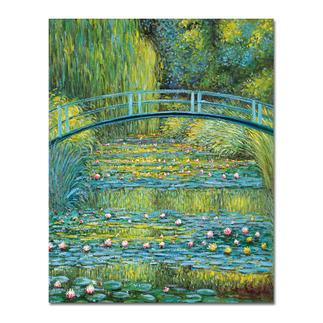 Zhao Xiaojie malt Monet – Bridge over a Pond of Water Lilies Ein Millionen-Euro-Kunstwerk in Ihrer Sammlung? Beinahe. Die perfekte Kunstkopie – 100 % von Hand in Öl gemalt. Maße: 73,7 x 92,7 cm