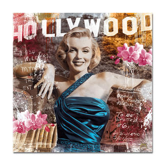 """Devin Miles: """"As Rose II"""" Devin Miles: Der Shootingstar der deutschen """"Modern Pop-Art"""". Unikatserie aus Malerei, Siebdruck und Airbrush auf gebürstetem Aluminium. 100 % Handarbeit."""