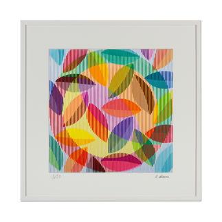 Antonio Marra – Wilde Lust am Leben Ein Werk, das aus jeder Perspektive anders erscheint. Dank hoch entwickelter Reproduktionstechnik wird die Dreidimensionalität des Originals 1:1 wiedergegeben. 20 Exemplare. Maße: gerahmt 101 x 101 cm