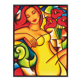 Ekaterina Moré – Red Callas Dream Ekaterina Morés unverkäufliches neuestes Werk. Edition von 30 Exemplaren. Jedes Werk von Hand geprägt. Maße: 80 x 105 cm