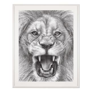 Koshi Takagi – The Lion King Fotorealistische Bleistiftzeichnung. Mit über 1 Million handgemalten Strichen. Koshi Takagis zweite Edition seiner Raubkatzen-Serie. 90 Exemplare. Maße: 90 x 120 cm